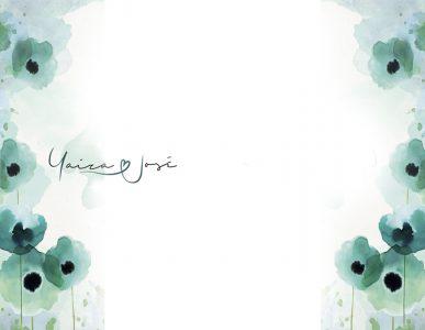 photocall flores acuarela